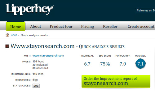 lipperhey screenshot 10 Website & SEO Analysis Tools
