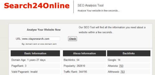 search24online screenshot 10 Website & SEO Analysis Tools