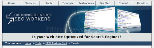 seo workers screenshot 10 Website & SEO Analysis Tools