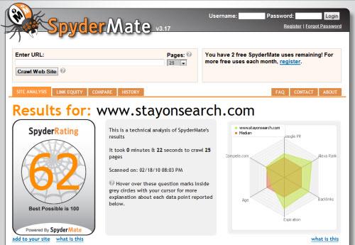 spydermate screenshot 10 Website & SEO Analysis Tools
