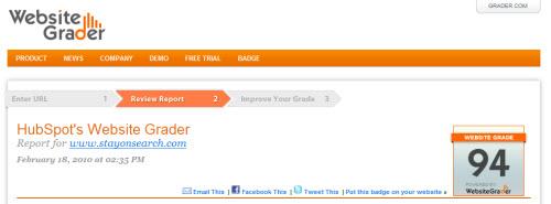 website grader screenshot 10 Website & SEO Analysis Tools
