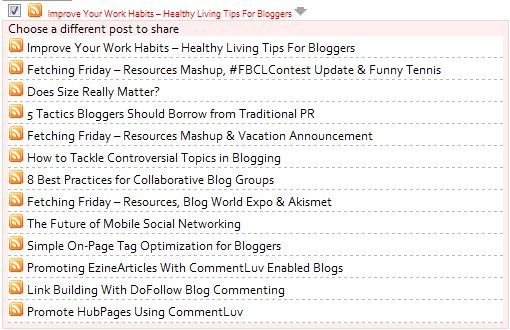 CommentLuv Dropdown Post Listings