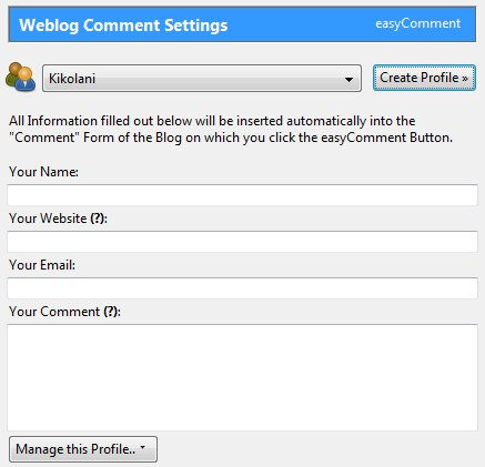 Easy Comment Plugin for Firefox