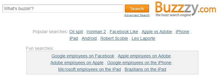 Buzzzy Google Buzz Search