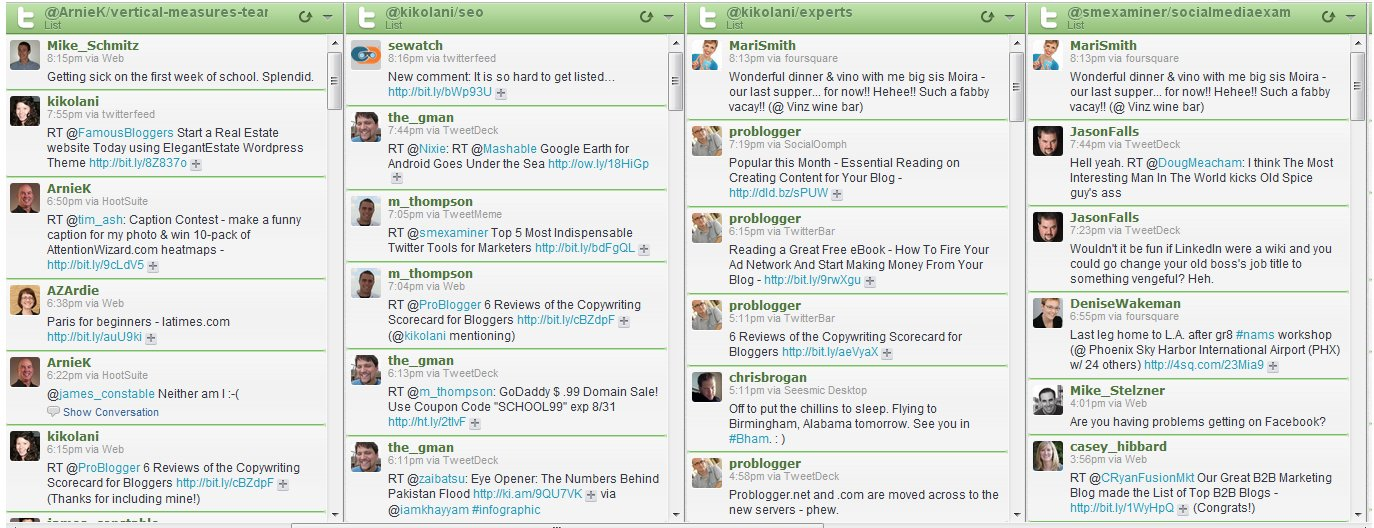 HootSuite Twitter List Management