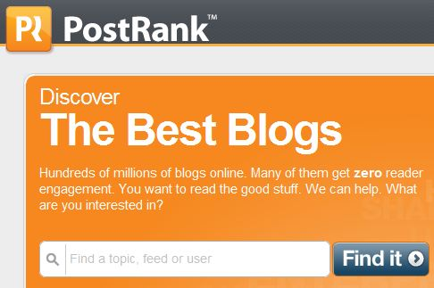 Postrank Blog Search