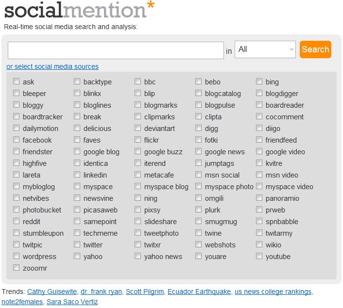 Social Mention Search