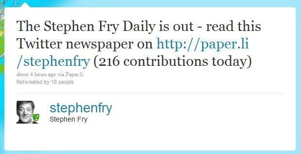User Daily Paper.li Tweet
