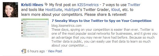 Facebook HootSuite Wall Post Tag