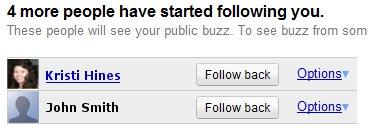 Google Buzz Following