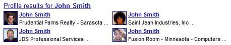 Google Profiles for John Smith