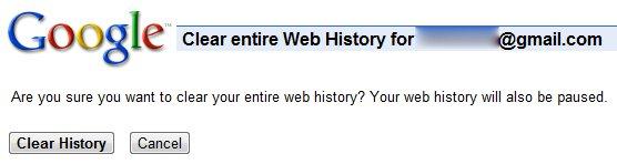 Clear Google Web History