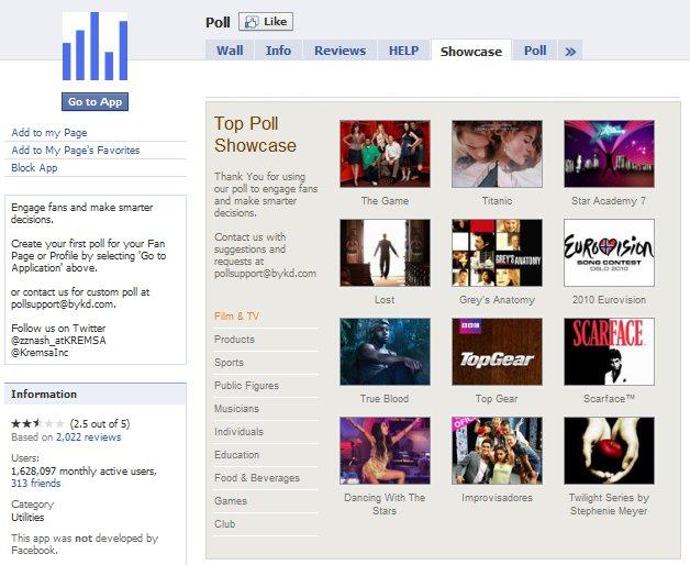 Facebook Poll Application