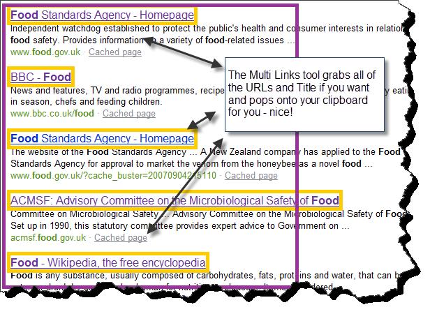 Multi Links SEO Tool - Detail, of links and URLs