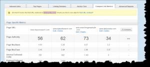 Comoparing Link metrics with OSE