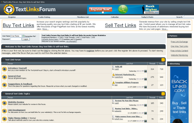 text-links-forum
