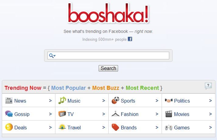 Booshaka Facebook Search