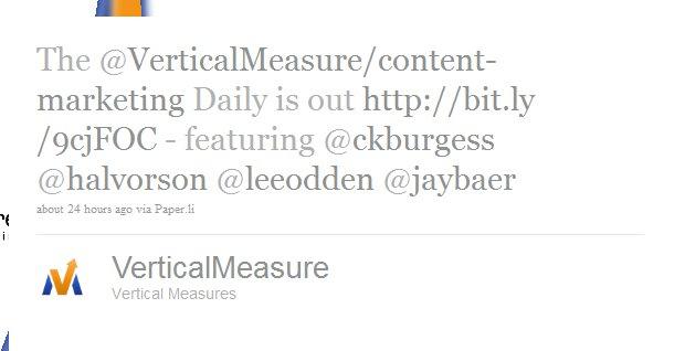 Twitter List Daily Paper.li Tweet