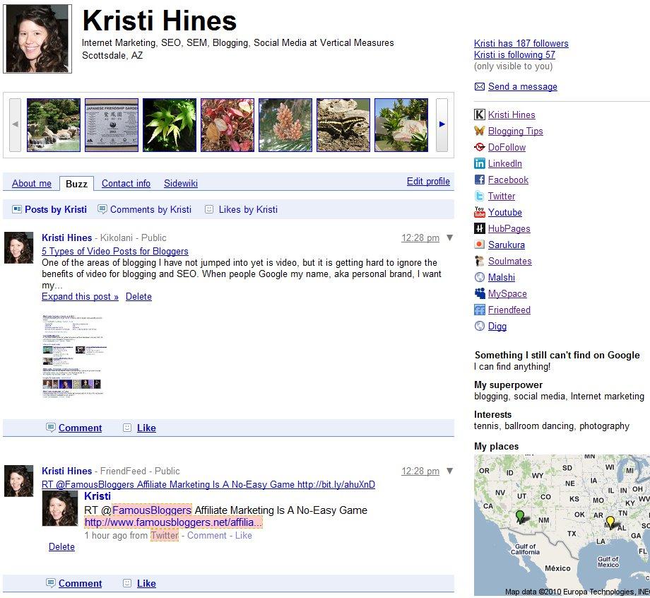 Google Profile Buzz
