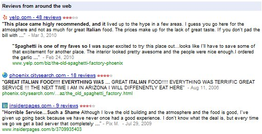 Google Local Search Reviews from Around the Web